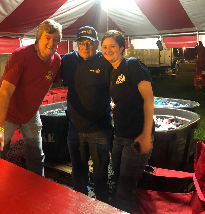 Helping out at the 2019 Frog Fest