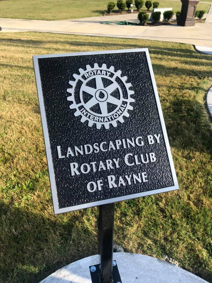 Rayne Veterans Park Plaque Installation